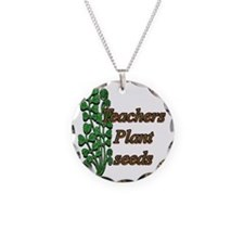 teachers plant copy Necklace