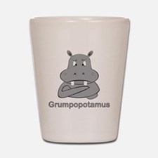 grumpopotamus Shot Glass