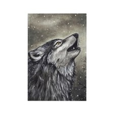 Cover, Wolf 001 Rectangle Magnet