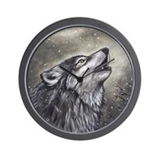 Cover, Wolf 001 Wall Clock