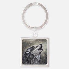 Cover, Wolf 001 Square Keychain