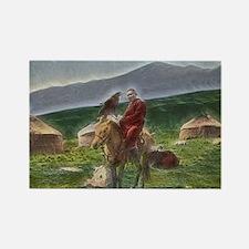 Kazakh Horseman Rectangle Magnet