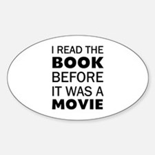 I Book Movie Sticker (Oval)