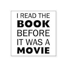 "I Book Movie Square Sticker 3"" x 3"""
