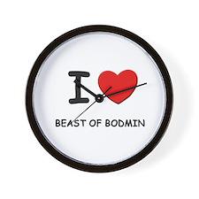 I love beast of bodmin Wall Clock