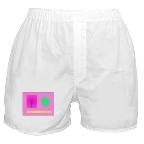 Minimalism Pink Boxer Shorts
