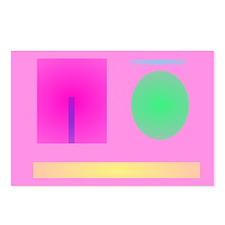 Minimalism Pink Postcards (Package of 8)