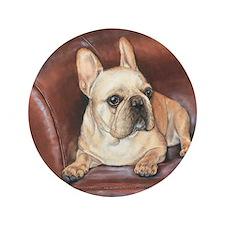 "French Bulldog 3.5"" Button"