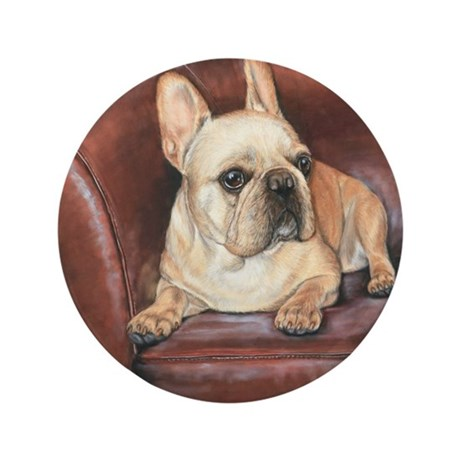 "French Bulldog # 2 3.5"" Button"
