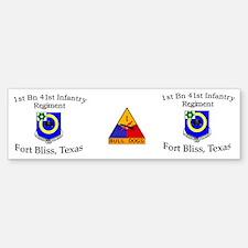 1st Bn 41st Inf Mug1 Bumper Bumper Sticker