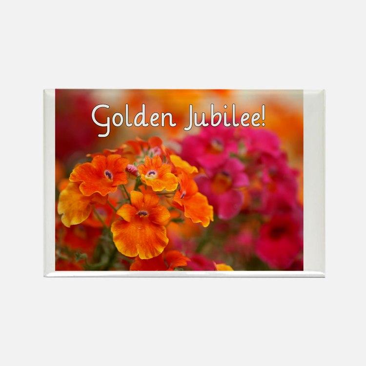 Golden Jubilee Rectangle Magnet