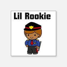 "rookie cop Square Sticker 3"" x 3"""