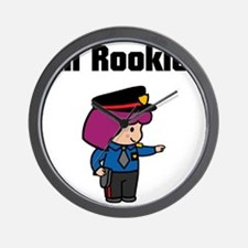rookie cop 4 Wall Clock
