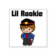 "rookie cop 2 Square Sticker 3"" x 3"""