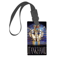 tut painting long Luggage Tag