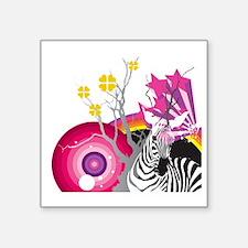 "Fantasty Zoo Square Sticker 3"" x 3"""