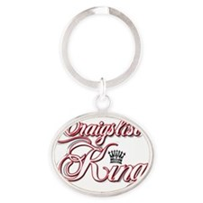 cl king red Oval Keychain