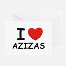 I love azizas Greeting Cards (Pk of 10)