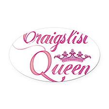 cl queen pink Oval Car Magnet
