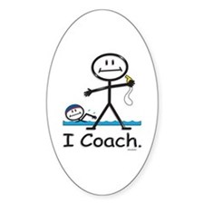 Swimming Coach Oval Decal