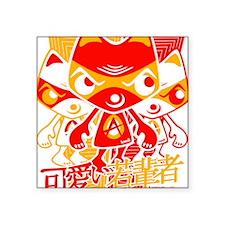 "AngryTeeStencil8x10 Square Sticker 3"" x 3"""