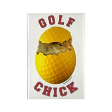Golf Chick 2 Rectangle Magnet (10 pack)