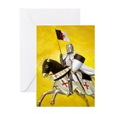 templar cover for journal Greeting Card