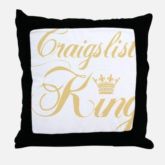 cl king gold Throw Pillow