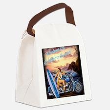 2004 BIKE RALLY HULA GIRL Canvas Lunch Bag
