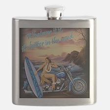 2004 BIKE RALLY HULA GIRL Flask