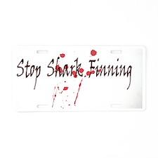 2-sharks-blood Aluminum License Plate