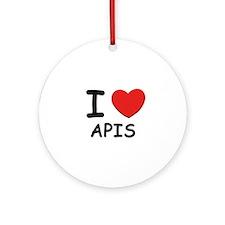 I love apis Ornament (Round)