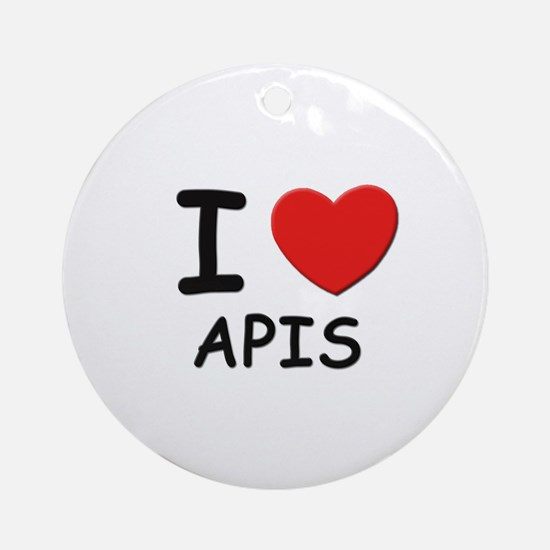 I love apis Ornament (Round)