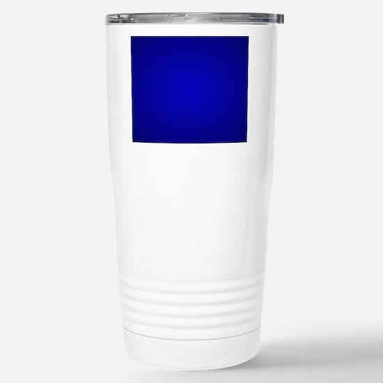 Minimal Art Dark Blue Travel Mug