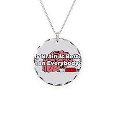 Big Bang Brain Necklace Circle Charm