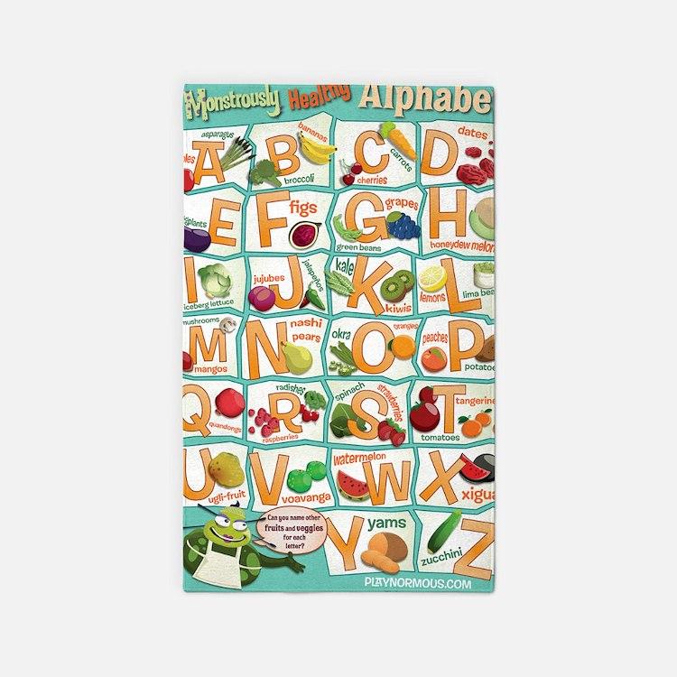 Poster-Alphabet_4600x7000 3'x5' Area Rug