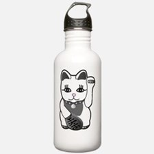 luckycatPinkNose Water Bottle