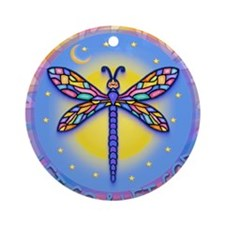 LGLG-Butterfly (purp) Ornament (Round)