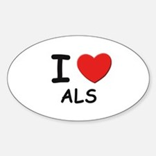 I love als Oval Decal