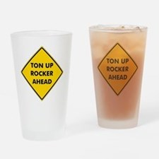 rockerscautionsign Drinking Glass