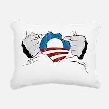 torn shirt-Obama Rectangular Canvas Pillow