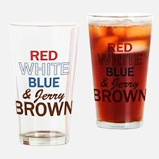 RWBluBrown2 Drinking Glass