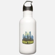 new york 7 newwave beachy Water Bottle