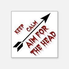 "Aim head Square Sticker 3"" x 3"""