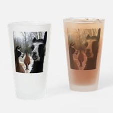 Llamas larger Drinking Glass