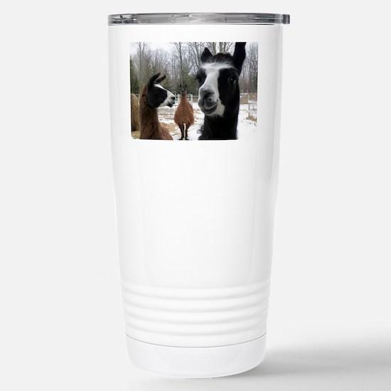 Llamas larger Stainless Steel Travel Mug