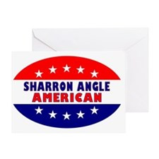 OvalStickerSharronAngleAmerican Greeting Card