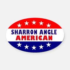 OvalStickerSharronAngleAmerican Oval Car Magnet
