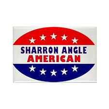 OvalStickerSharronAngleAmerican Rectangle Magnet