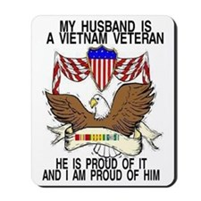 HUSBAND VET RIBBONS Mousepad